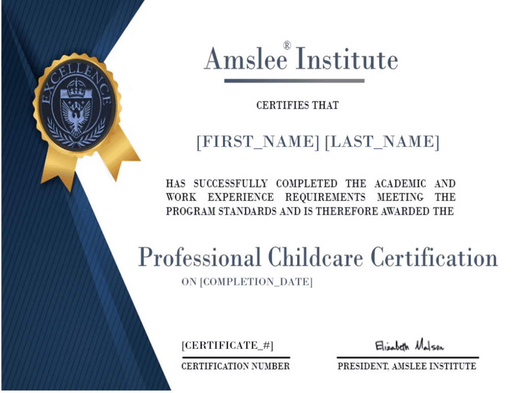 Professional Childcare Certification