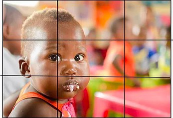 child framed for photography