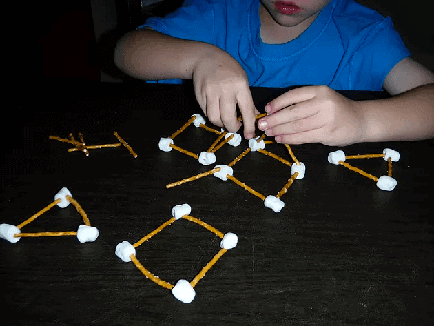 marshmallow and pretzel shapes
